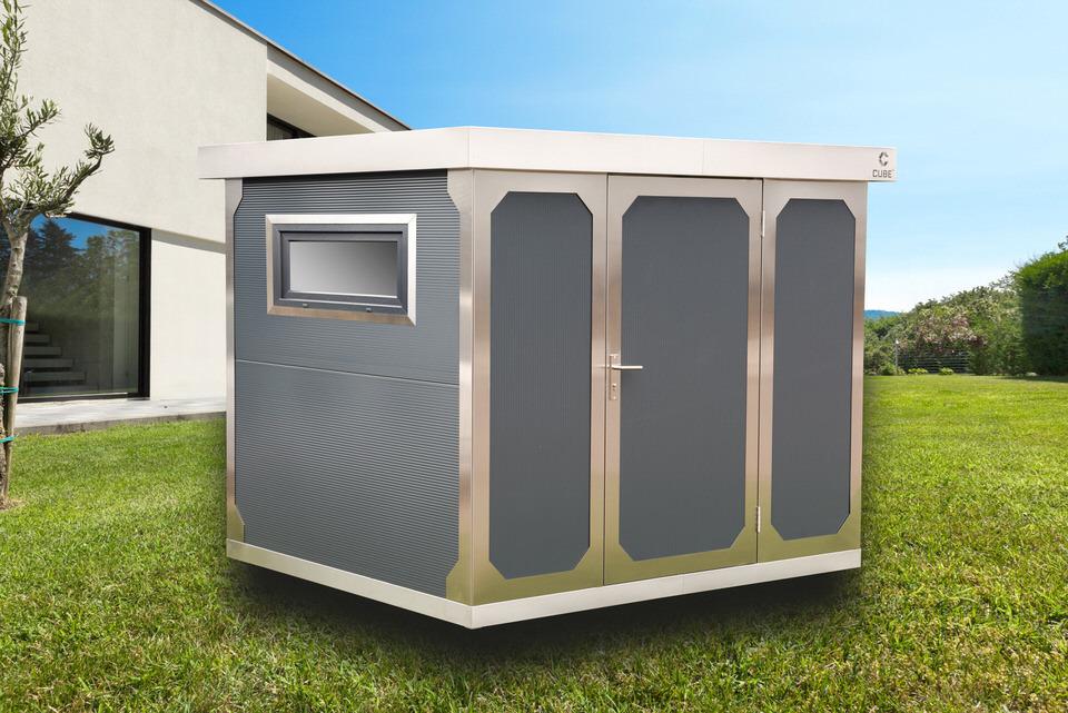 edelstahl gartenhaus edelstahl gartenhaus cube fx reba immobilien ag berlin kassel. Black Bedroom Furniture Sets. Home Design Ideas