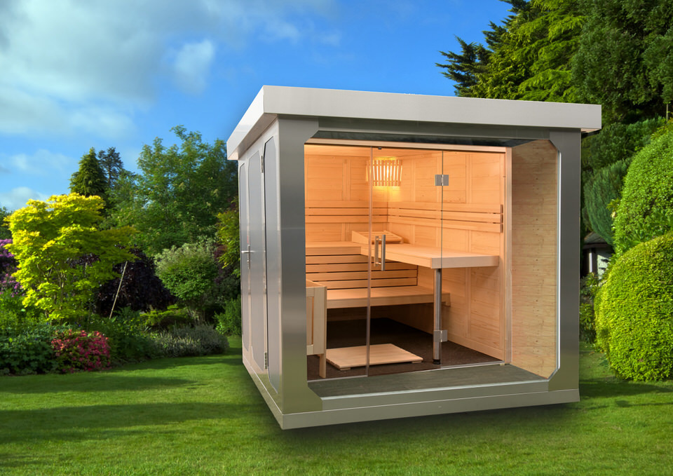 edelstahl gartenhaus cube fx reba immobilien ag berlin kassel immobilienmakler hotelmakler. Black Bedroom Furniture Sets. Home Design Ideas